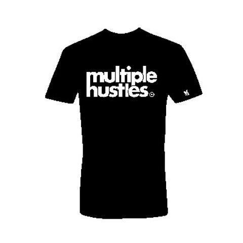Multiple Hustles Tee  (Black &White)
