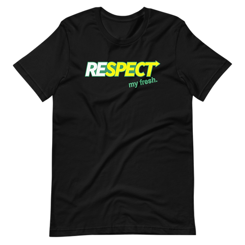 Respect My Fresh Vintage Tee   (Black)