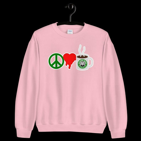 of Peace.Love. Coffee   CrewNeck)