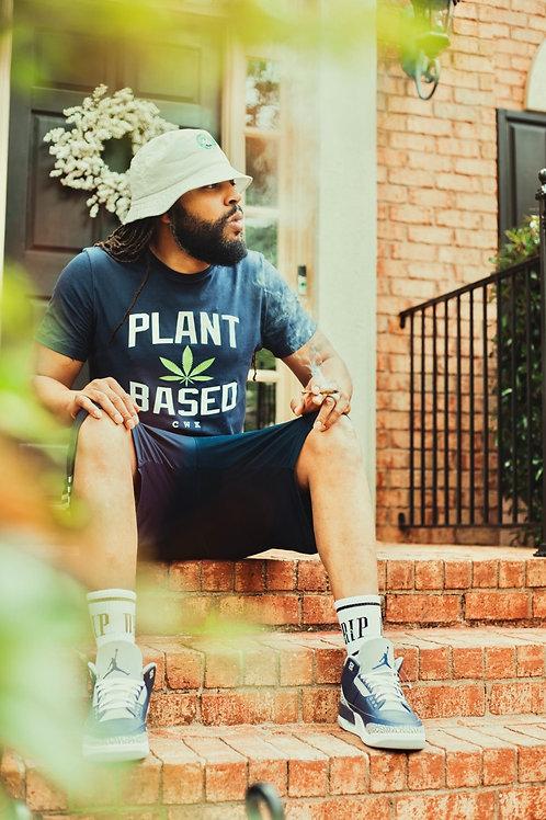 #PlantBased Navy    Summer Tee