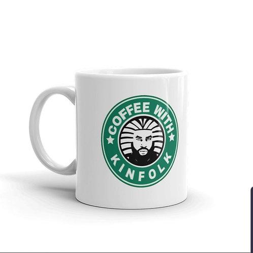 COFFEEWITHKINFOLK - WHITE MUG  11oz