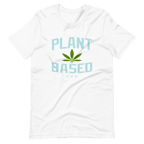 #PlantBased Icey White  and Sky Blue Tee