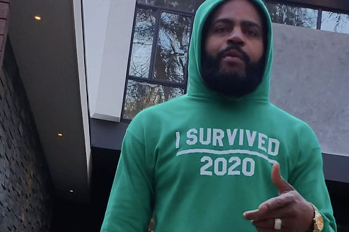 I Survived Hoodie and Sweatshirt (  Green)