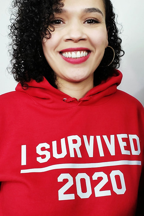 I Survived Hoodie and Sweatshirt  (Red)