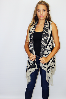 Fall Into Me Aztec Vest