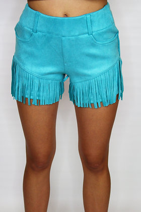 Let's Rodeo Turquoise Shorts