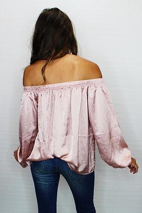 Rosé Off-the-shoulder Top