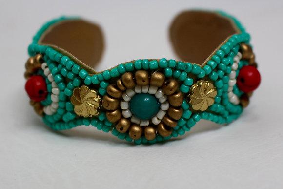 Beachin' In Belize Turquoise Cuff Bracelet