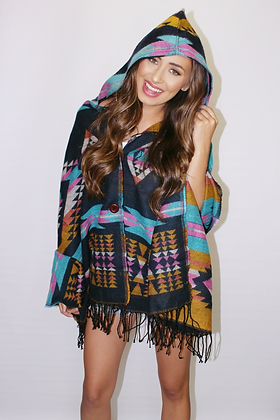 New Mexico Nights Poncho