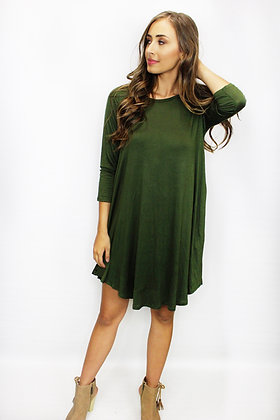 Cover Your Basics Olive Dress