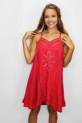 Red Hot Cutout Dress