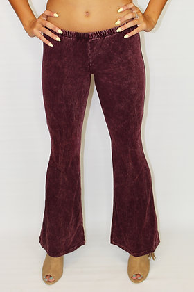 70's Vibes Maroon Bell Bottoms