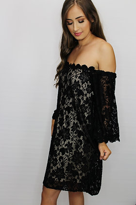 Lost In Love Lace Off The Shoulder Dress