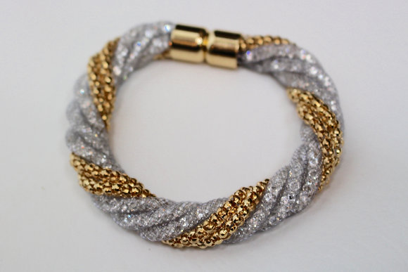 All Twisted Up Grey Bracelet