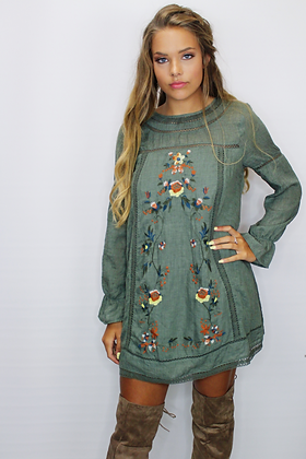 Let It Grow Embroidered Dress