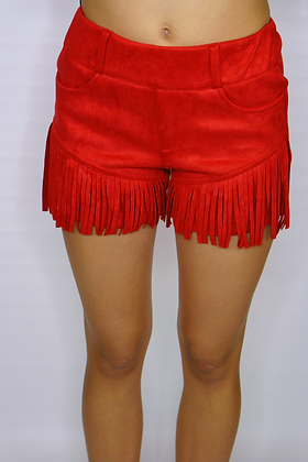 Let's Rodeo Red Shorts
