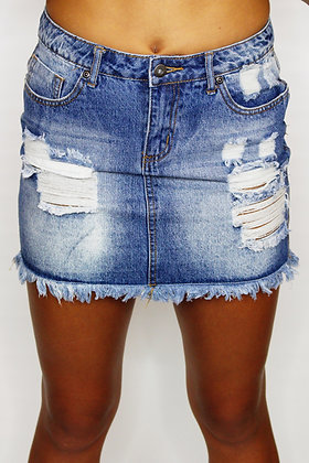 90's Baby Denim Mini Skirt