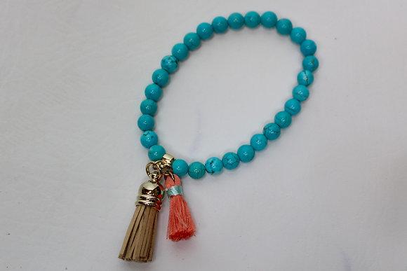 Making Memories Turquoise Tassel Bracelet