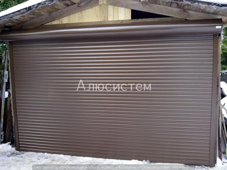 Рольставни для ворот гаража Дятлицы.jpg