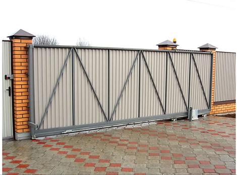 сдвижные ворота с профнастилом.png