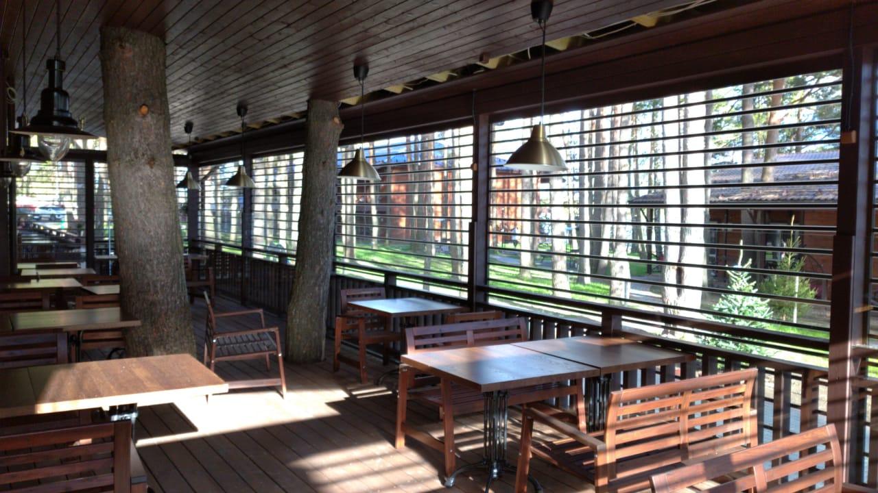 прозрачные роллеты ресторан