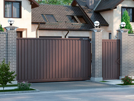ворота и калитки в одном стиле.jpg