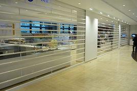 прозрачные рольставни в торговый центр