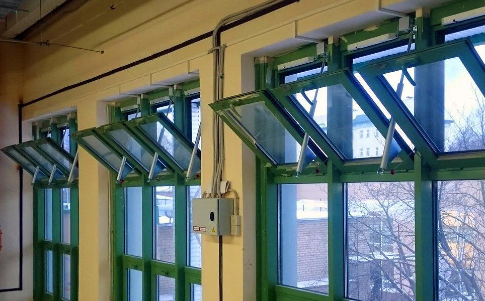 противопожарные окна с открывающимися ст