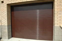 стальные рольставни на гараж
