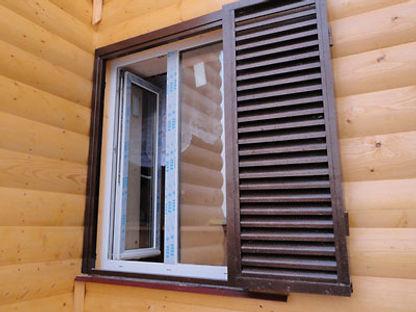 металлические ставни гармошка на окно