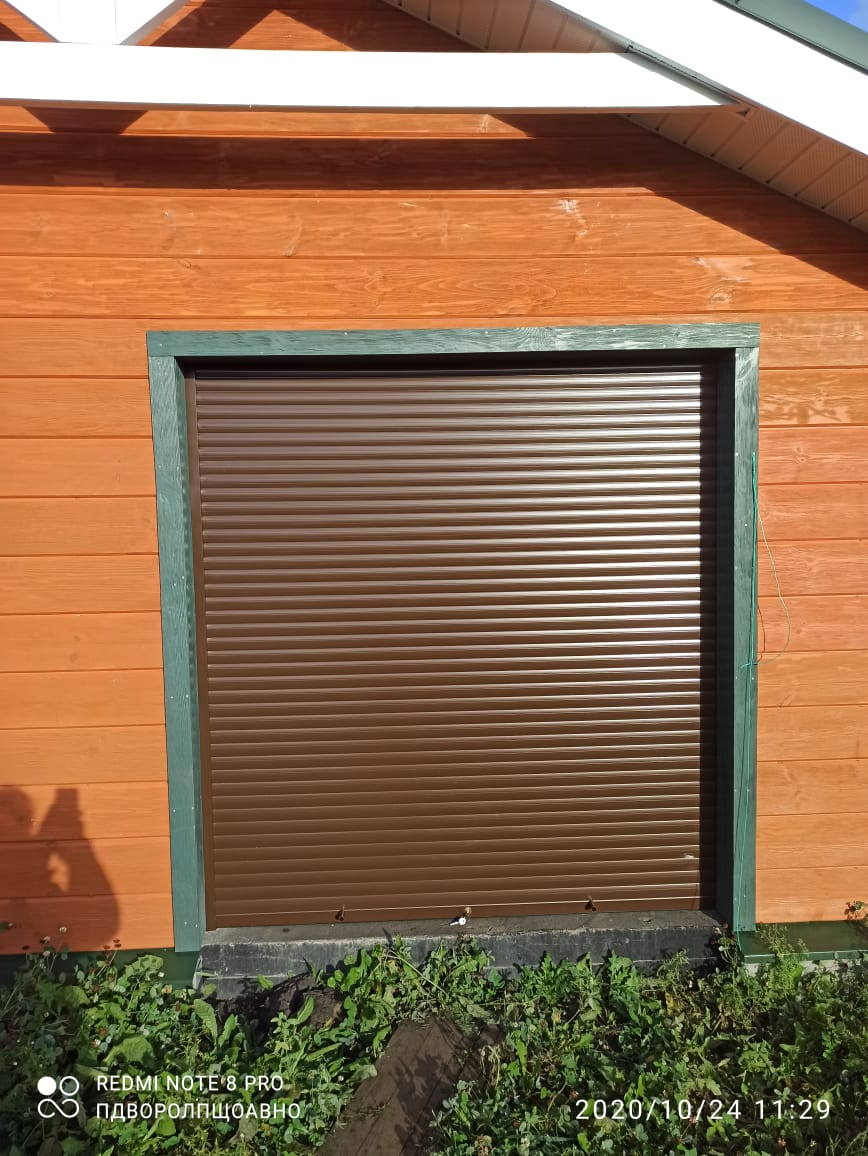 ролетные ворота на гараж