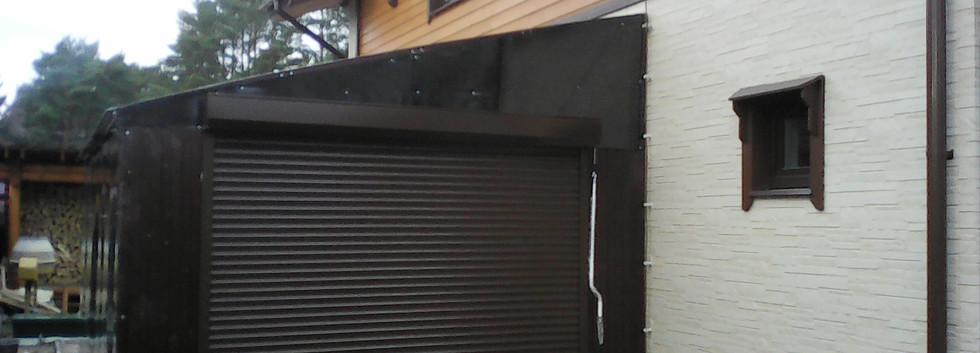 Рольставни ворота под навес