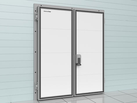 двустворчатая дверь для охлаждаемых поме