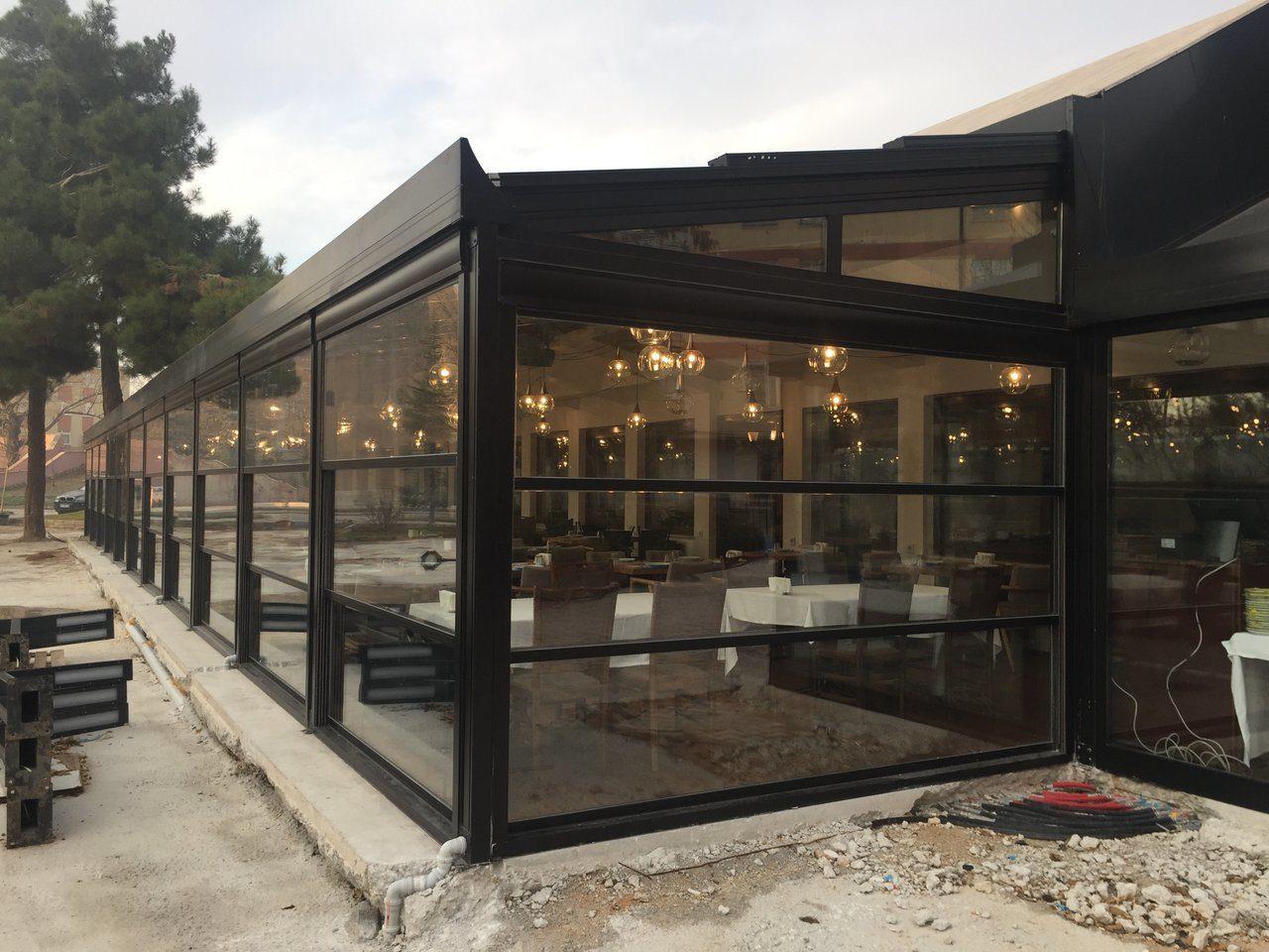 ресторан автоматические стекла