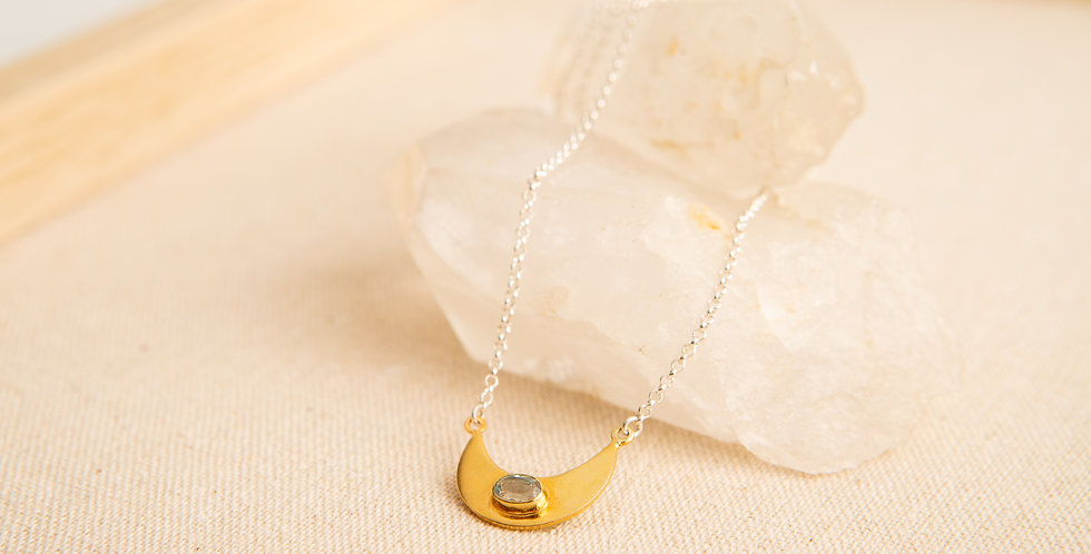 TINY DANCER Moon Necklace - gold
