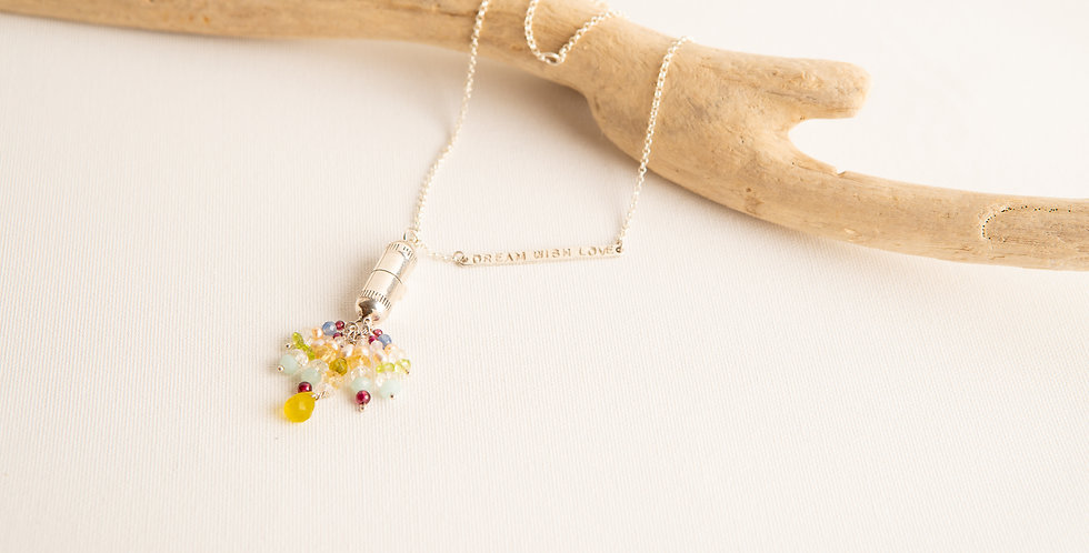 DREAM WISH LOVE Capsule Necklace - silver