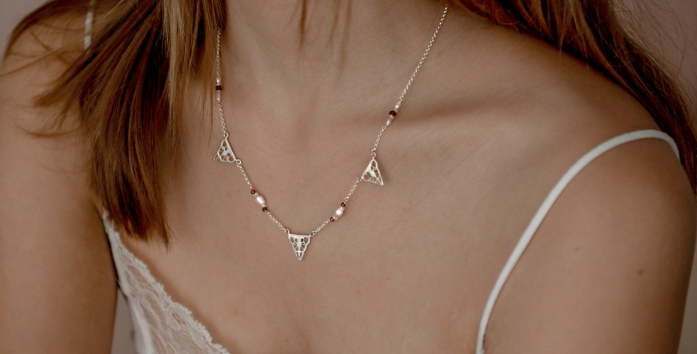 GATSBY Multi Charm Necklace - silver