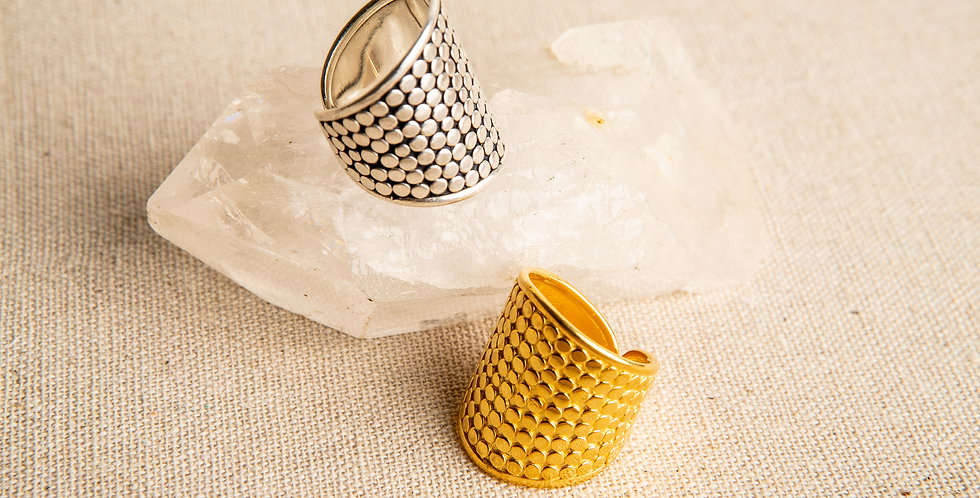 THE BEEHIVE Rings silver & gold