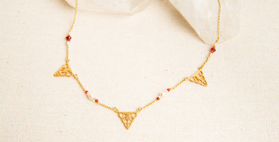 GATSBY Multi Charm Necklace - gold