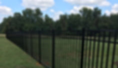 black aluminum fence panels