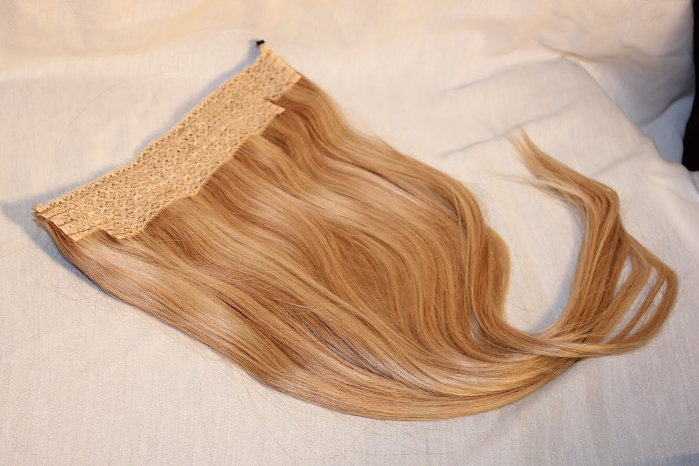 Plush Hidden Hair Extensions on wire