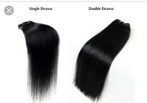Plush Double Drawn hair extensions