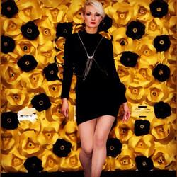 Gold & Black Wall