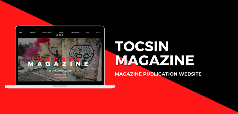 Tocsin Magazine Website Example by Chib