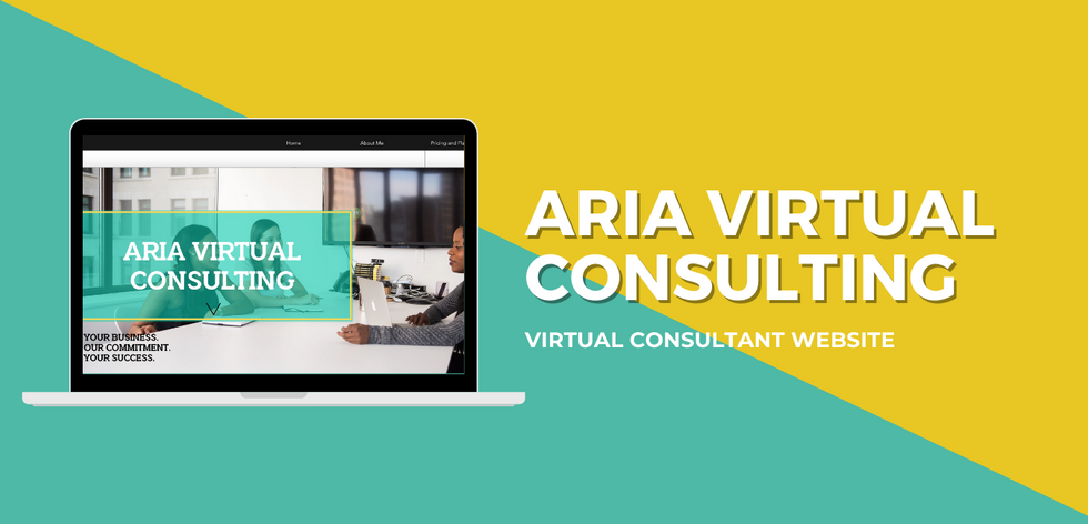 Aria Virtual Consulting Website Example.
