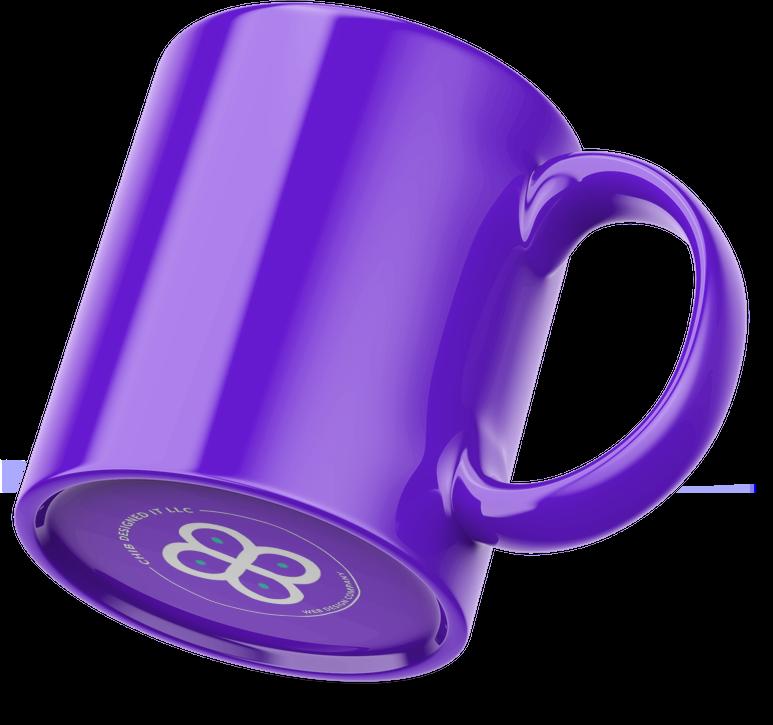 Image of a coffee mug mock up designed by Chib Designed It LLC, a web design agency in Texas, USA.