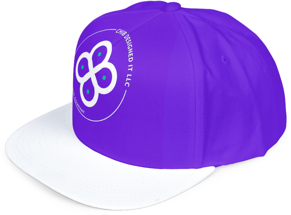 Image of a fitted cap mock up designed by Chib Designed It LLC, a web design agency in Texas, USA.e