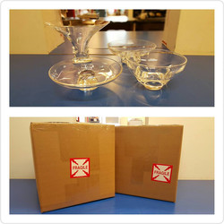 Crystal glass set
