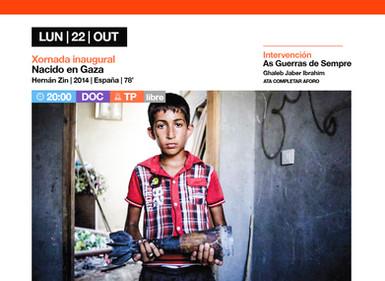 """AMAL inaugúrase o luns con """"Nacido en Gaza"""", un documental que narra os ataques israelís na franxa d"""