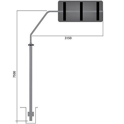 Coluna + braço projetado P 57